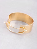 Hollow Latch Cuff Bracelet Anarchy Street Gold