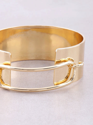 Hollow Latch Cuff Bracelet Anarchy Street Gold - Details