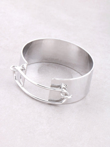 Hollow Latch Cuff Bracelet Anarchy Street Silver