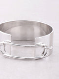 Hollow Latch Cuff Bracelet Anarchy Street Silver - Details