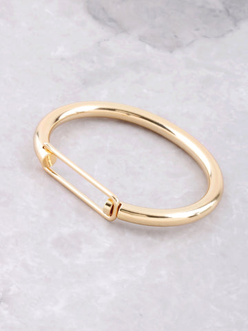 Hollow Latch Bangle Bracelet Anarchy Street Gold