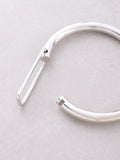 Hollow Latch Bangle Bracelet Anarchy Street Silver - Details