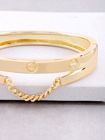 Screw Chain Hinge Bracelet Anarchy Street Gold - Details