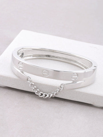 Screw Chain Hinge Bracelet Anarchy Street Silver