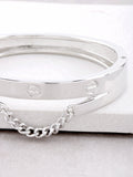 Screw Chain Hinge Bracelet Anarchy Street Silver - Details