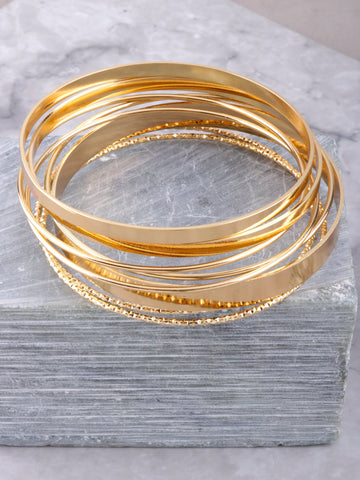Street Chic Bangle Set Anarchy Street Gold