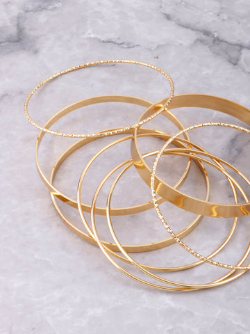 Street Chic Bangle Set Anarchy Street Gold - Details