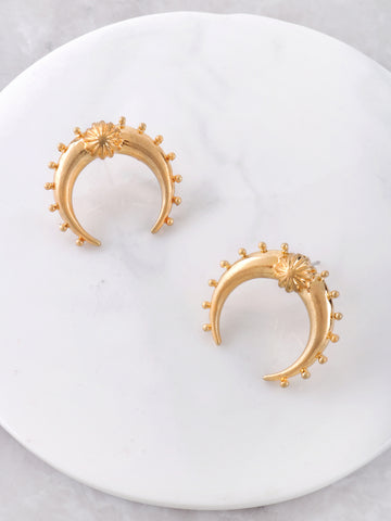 Crescent Horn Stud Earrings