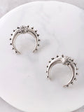Crescent Horn Stud Earrings Anarchy Street Silver
