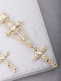 Medieval Cross Earrings Anarchy Street Gold - Details