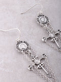 Medieval Cross Earrings Anarchy Street Silver - Details