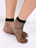 Diamond Fishnet Ankle Socks Anarchy Street Black