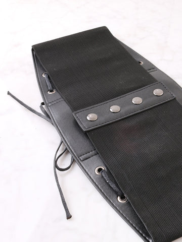 Vegan Leather Snap Corset Belt