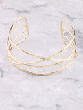 Criss Cross Cage Choker Anarchy Street Gold - Details