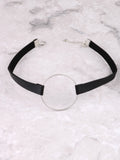 Vegan Leather Collar Choker Anarchy Street Black