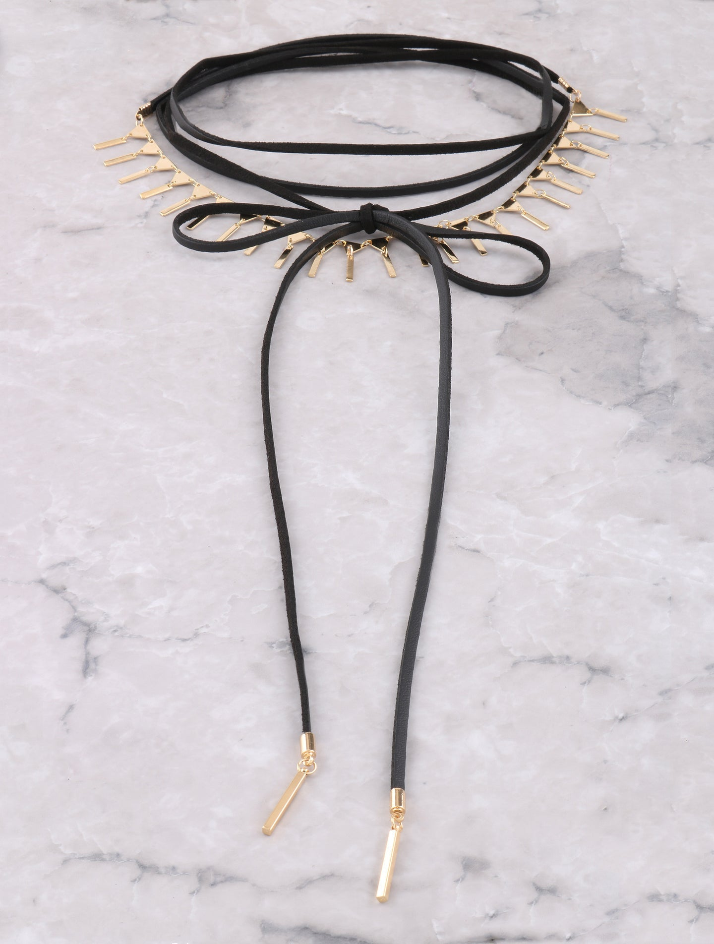 Dainty Triangle Choker Anarchy Street Gold