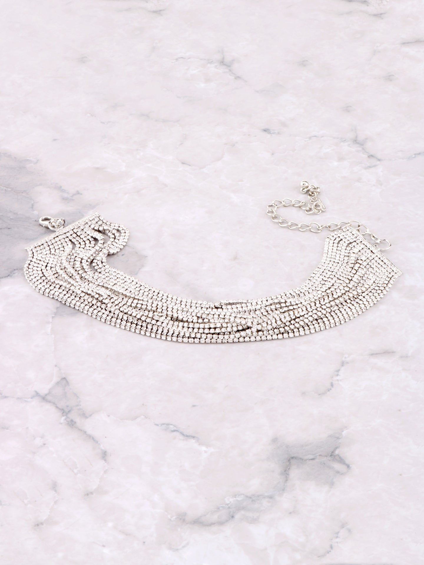 Glitz Layered Choker Anarchy Street Silver