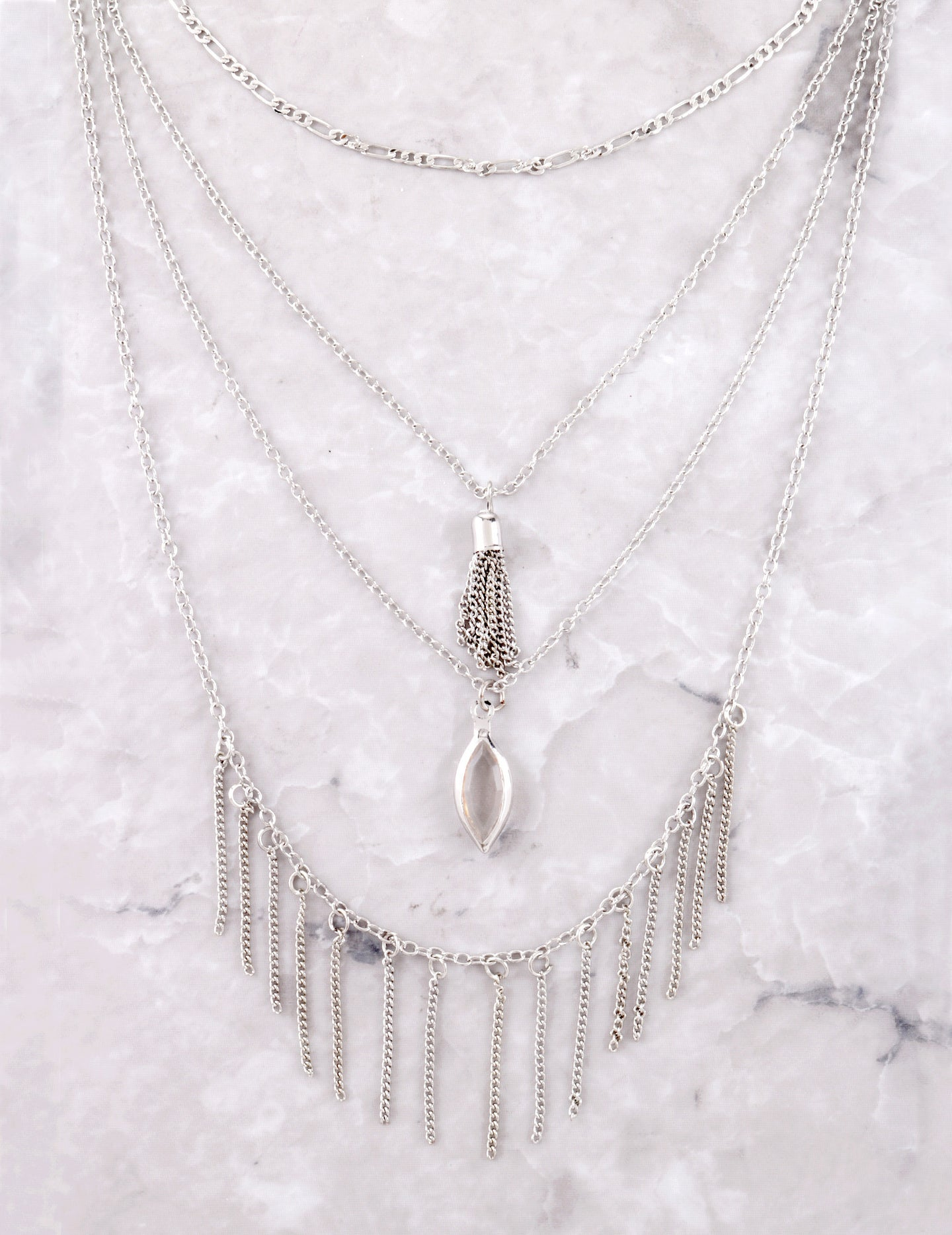 Chain Tassel Necklace Anarchy Street Silver