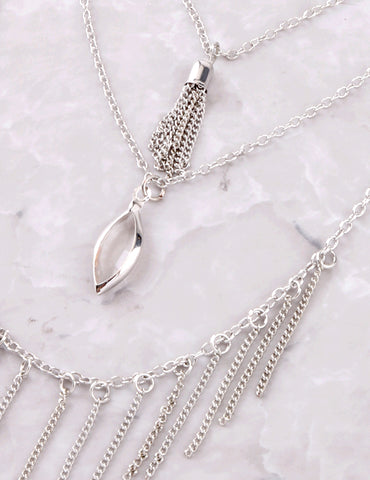 Chain Tassel Necklace Anarchy Street Silver - Details