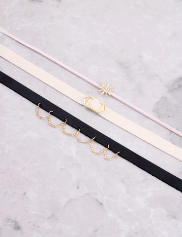 It Girl Choker Set Anarchy Street Multi