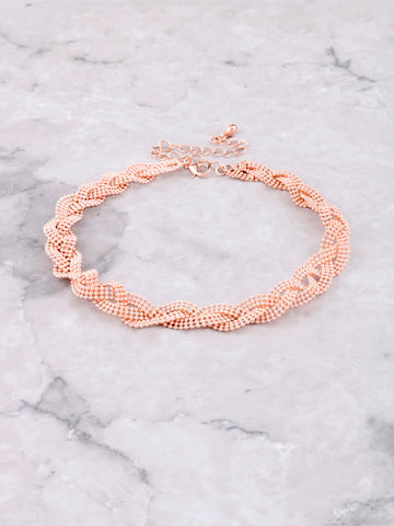 Triple Ball Chain Choker Anarchy Street Rosegold