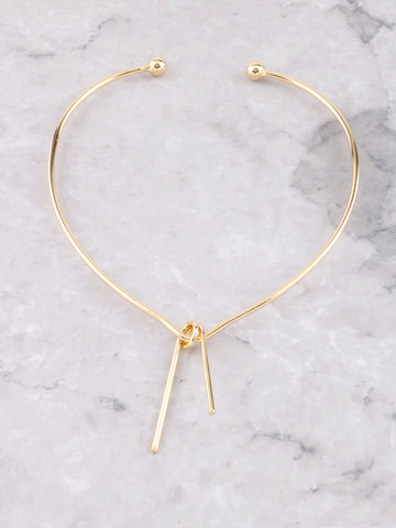 Bent Bar Collar Choker Anarchy Street Gold