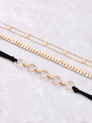 Summer Time Fine Choker Set Anarchy Street Gold - Details5