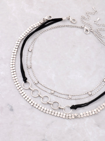 Summer Time Fine Choker Set Anarchy Street Silver