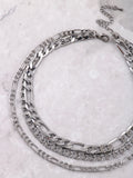 Triple Curb Chain Choker