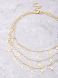 Five Points Layered Choker Anarchy Street Gold