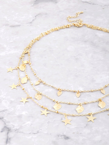 Adorned Layered Choker Anarchy Street Gold
