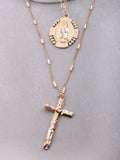 Baroque Layered Rosary Necklace Anarchy Street Gold - Details