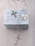 Baroque Layered Rosary Necklace Anarchy Street Silver - Details