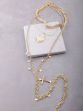 Saint Charm Layered Necklace Anarchy Street Gold