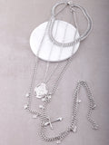 Saint Charm Layered Necklace Anarchy Street Silver