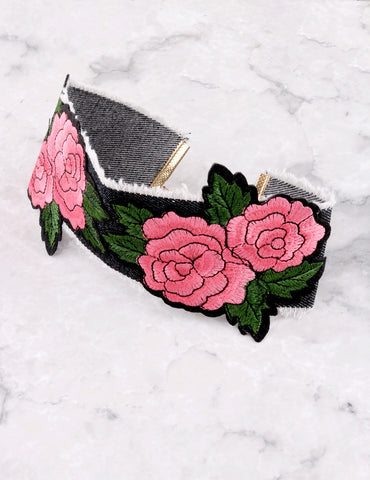 Rose Bush Choker Anarchy Street Denim