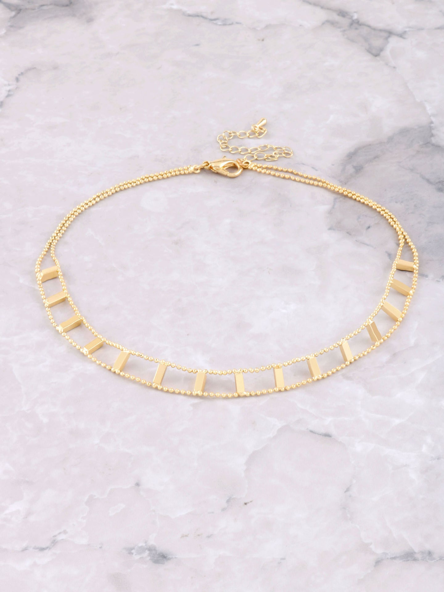 Blocked Out Choker Anarchy Street Gold