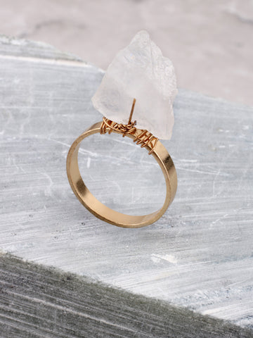 Quartz Tipped Ring Anarchy Street Gold