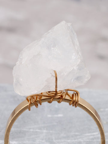 Quartz Tipped Ring Anarchy Street Gold - Details