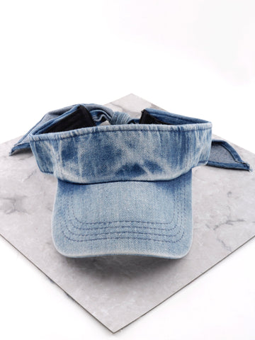 Denim Visor Cap Anarchy Street Denim