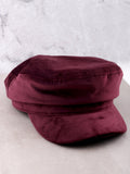 Velvet Cabbie Hat Anarchy Street Burgundy