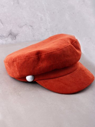 Corduroy Cabbie Hat Anarchy Street Orange