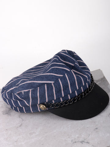 Nautical Cabbie Hat