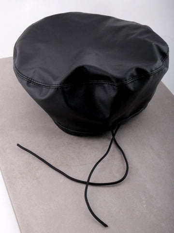 Vegan Leather Beret Anarchy Street Black