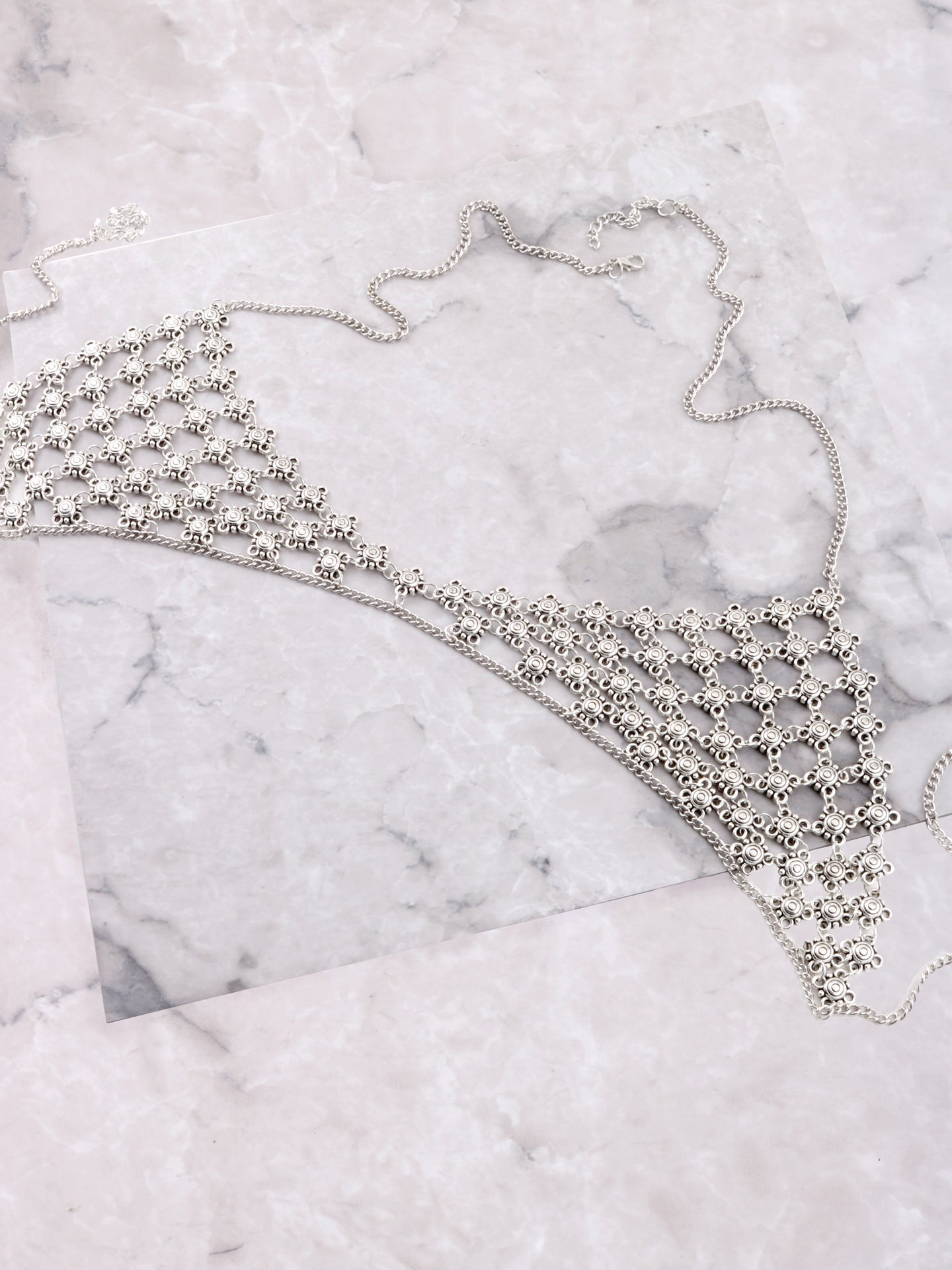 Flower Chain Bra Anarchy Street Silver