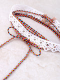 Friendship Lace Tasseled Choker Anarchy Street White - Details