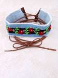 Rose Embroidered Choker Anarchy Street Denim