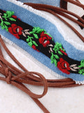 Rose Embroidered Choker Anarchy Street Denim - Details