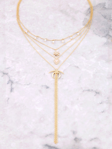 Charmed Layered Necklace Anarchy Street Gold