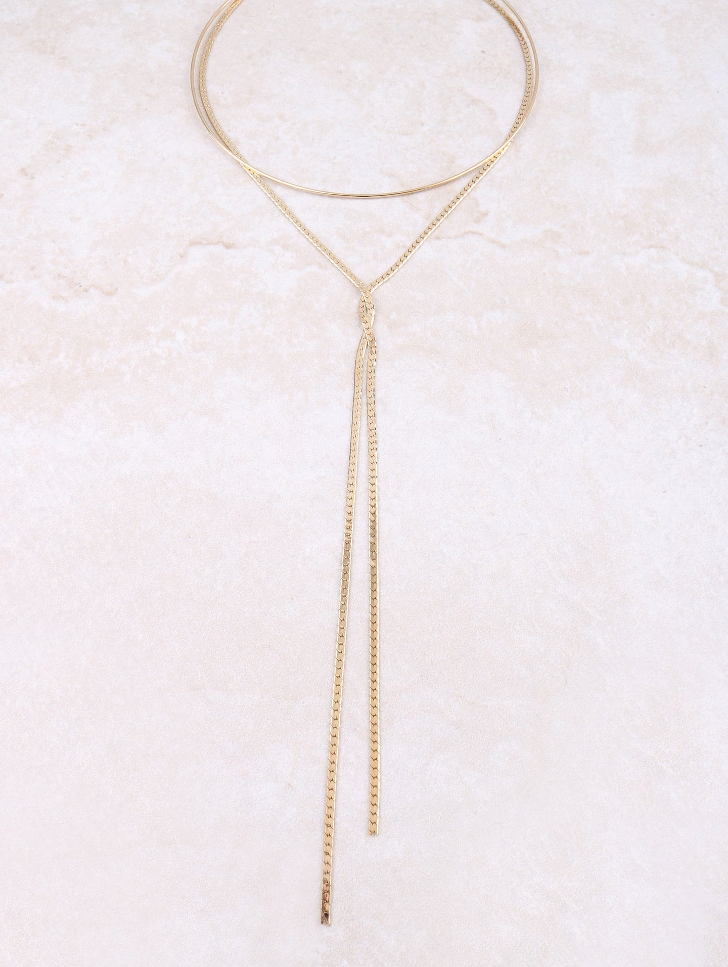 X Collar Necklace Anarchy Street Gold